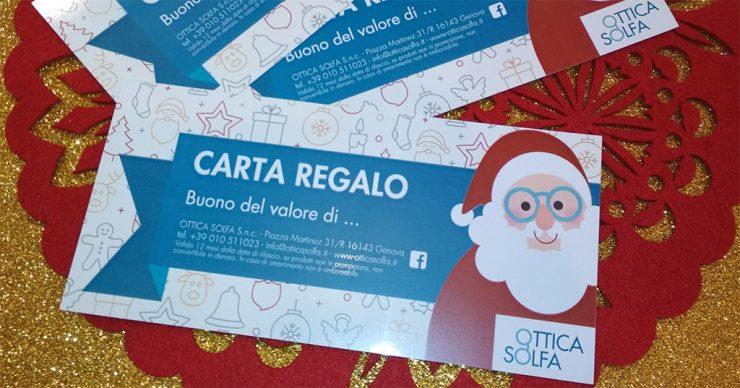 Carta regalo Natale 2017 - Ottica Solfa
